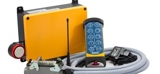 Increased safety with Munck radio remote control